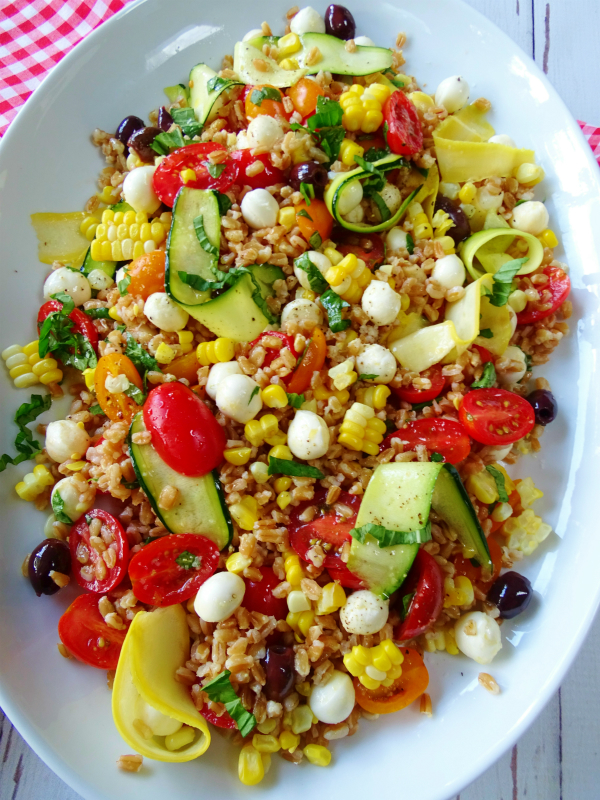 Summer Farro Salad - Proud Italian Cook