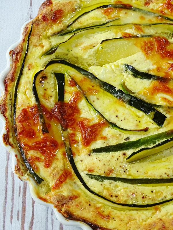 zucchini ricotta cheesecake