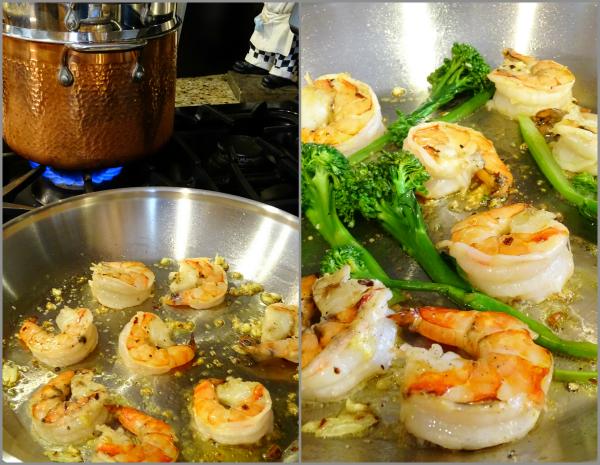 shrimp and broccolini