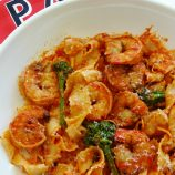 Shrimp, Pasta and Broccolini in Tomato Cream + A Pastaiola Giveaway