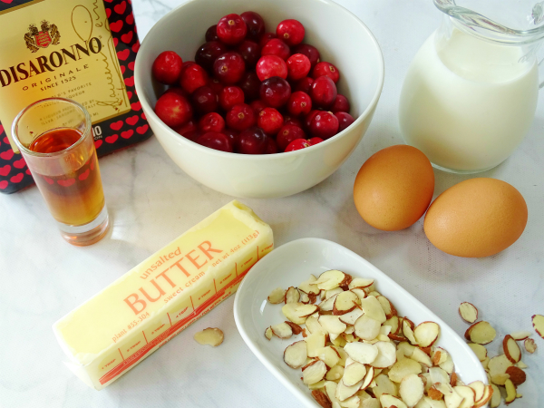 cranberry amaretto clafoutis ingredients
