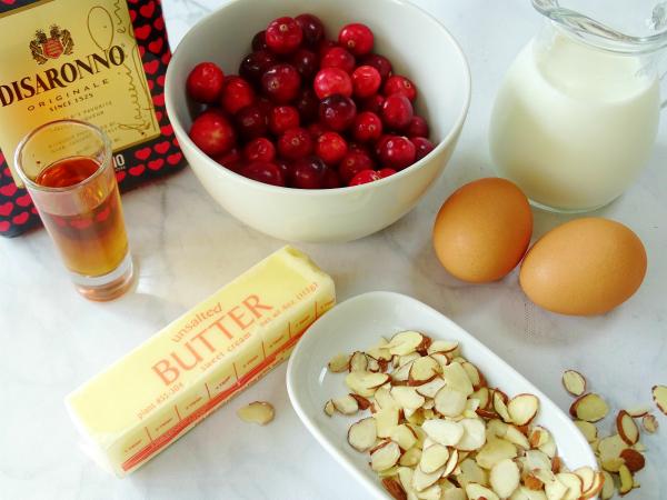 cranberry amaretto clafoutis ingredients