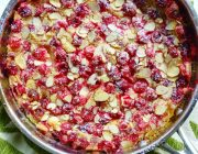 Cranberry Amaretto Clafoutis
