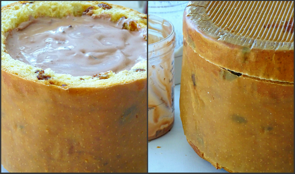 ice cream stuffed panettone