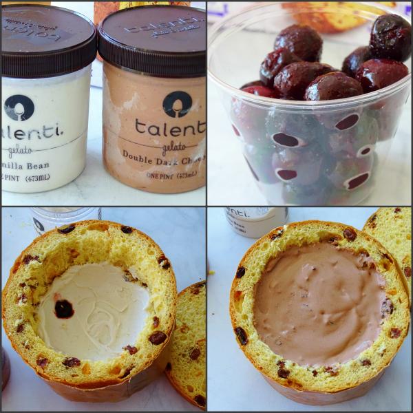 ice cream stuffed panettone