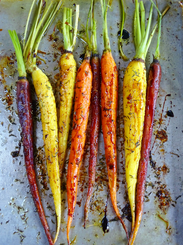 balsamic and thyme carrots