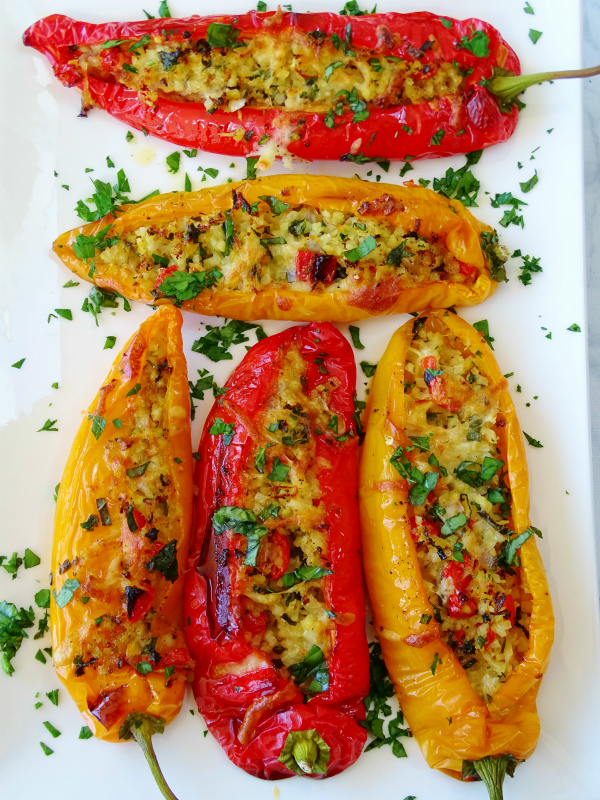 Sweet Long Peppers Stuffed with Cauliflower Rice - Proud ...