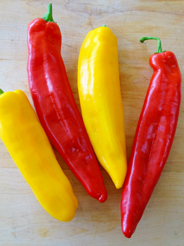 sweet long peppers