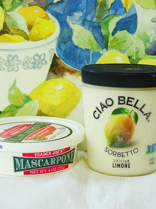 lemon mascarpone sorbet