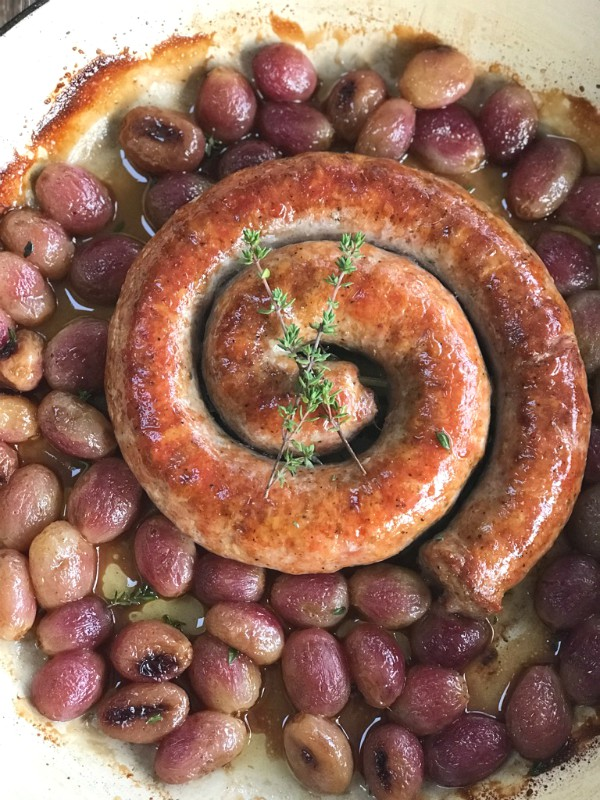 sausage with grapes