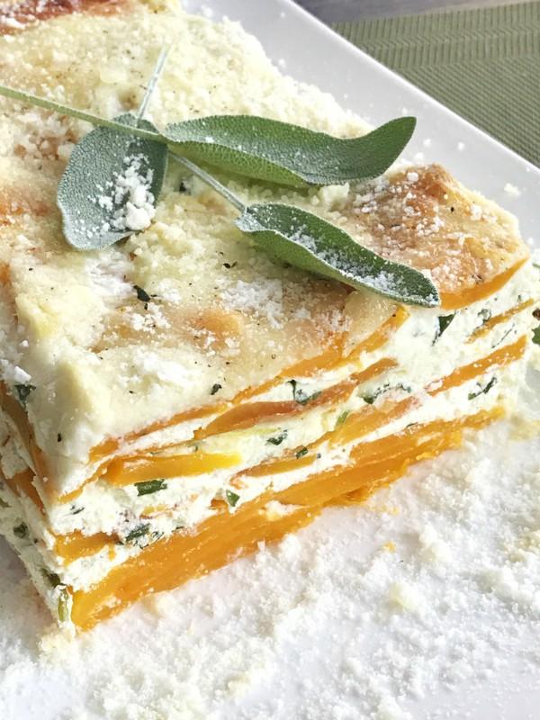 noodle-less butternut squash lasagna