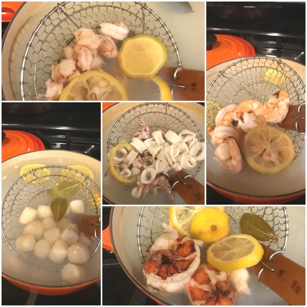 poached seafood
