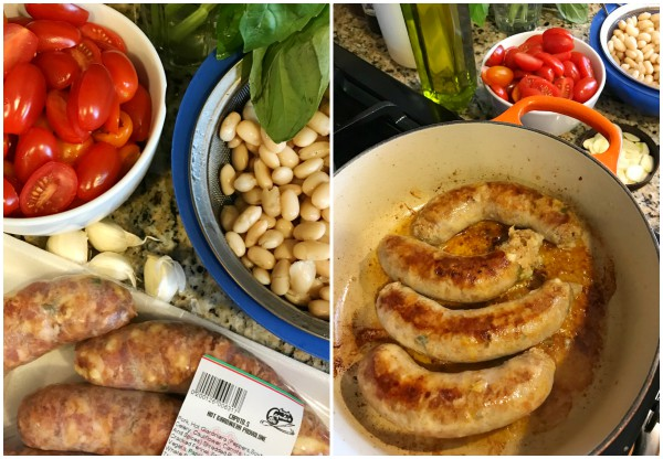 Italian sausage and beans