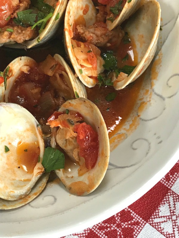 sausage and clams