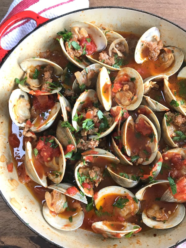spicy clams