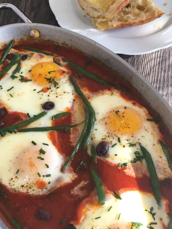 eggs with string beans