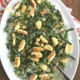 Pan-Fried Ricotta Gnocchi with Asparagus and Peas