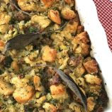 Ciabatta Bread Stuffing With Sausage And Herbs