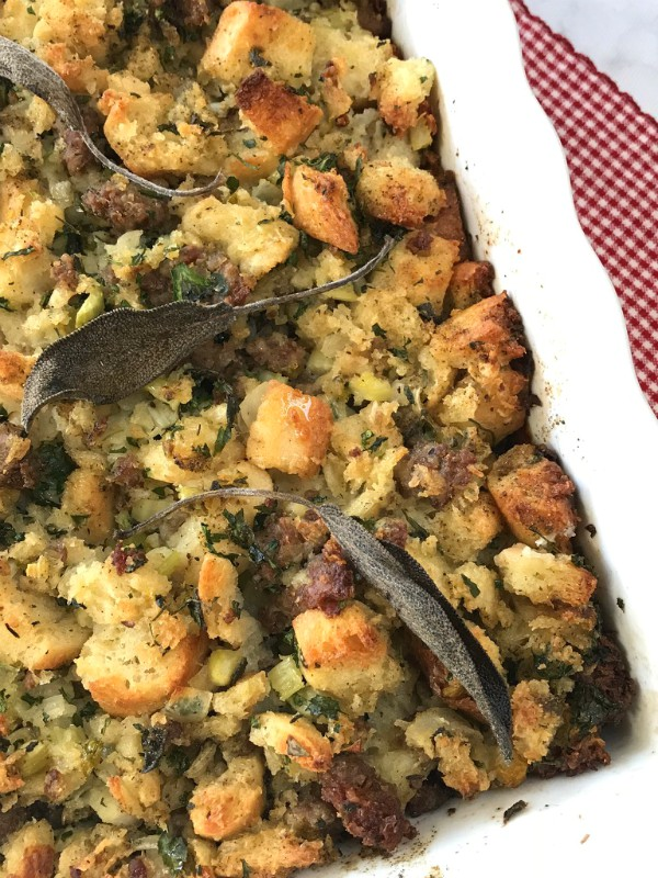 ciabatta and sausage stuffing