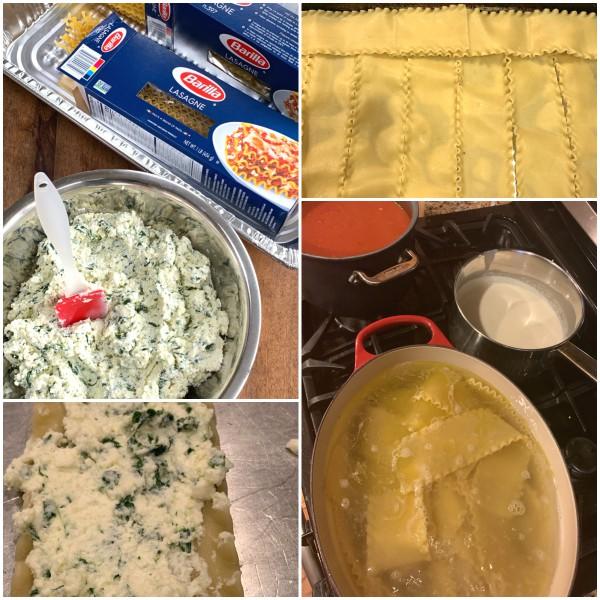 lasagna roll prep