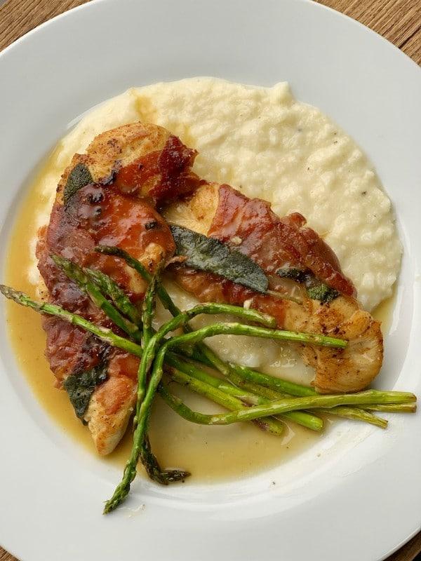 chicken saltimbocca dinner