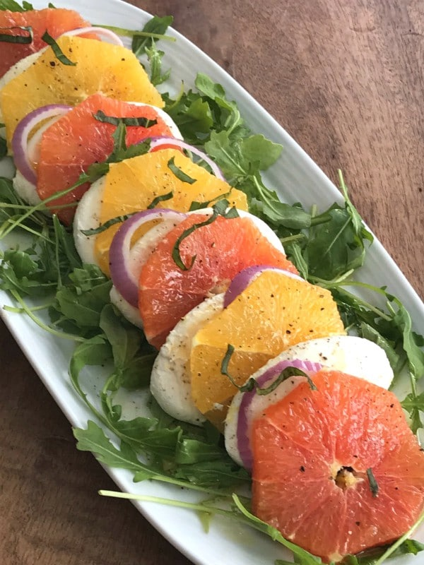 citrus and onion caprese