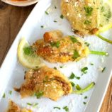 Zucchini Flowers Stuffed with Herby Ricotta and Cheese