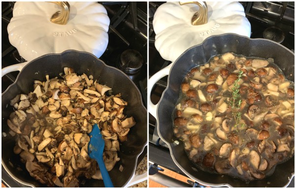 simmered mushrooms