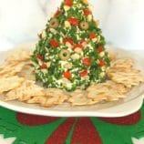 Christmas Tree Shaped Cheese Ball