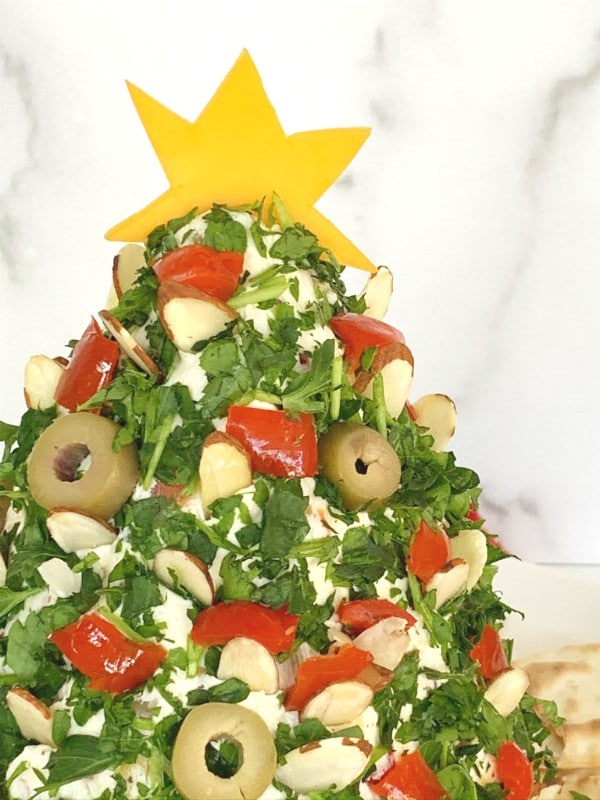 xmas tree cheese ball