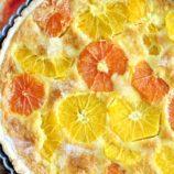 Orange Citrus Tart with Mascarpone Custard