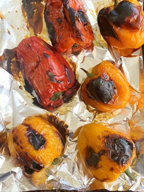 broiler blistering peppers