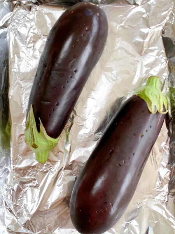 pricked eggplant