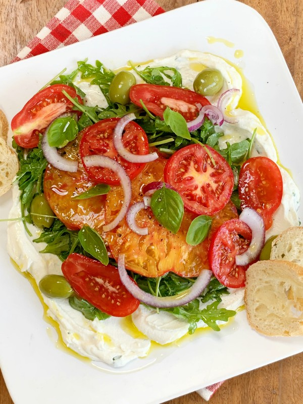 tomatoes and ricotta