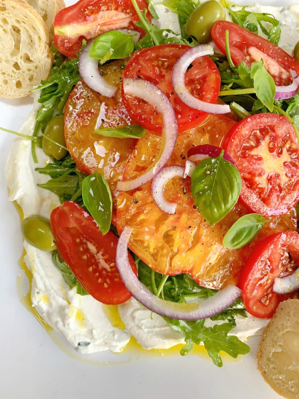 tomatoes and whip ricotta