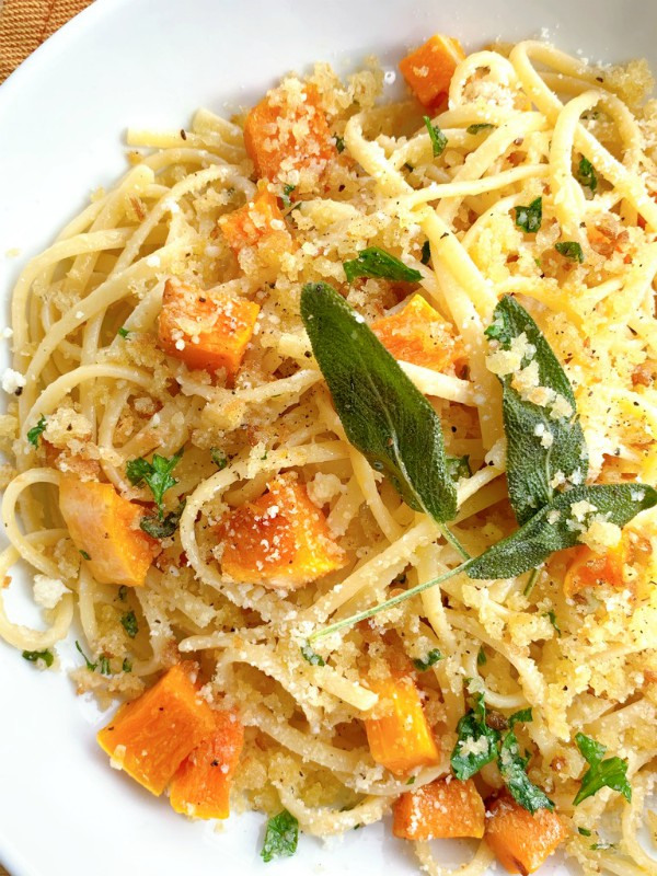 squash and pasta