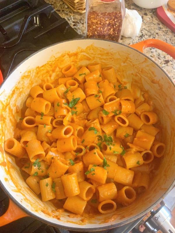 pasta and vodka sauce