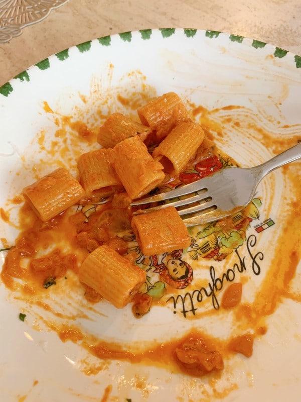 eaten pasta