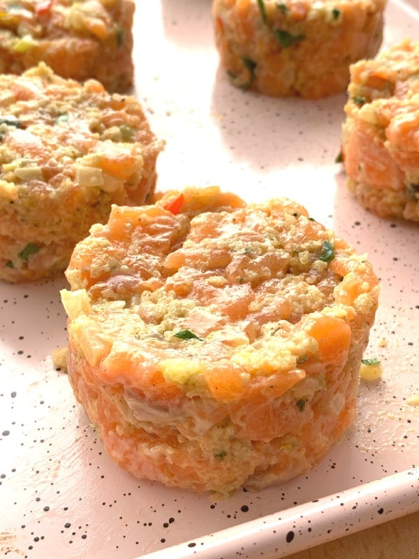 formed salmon cake