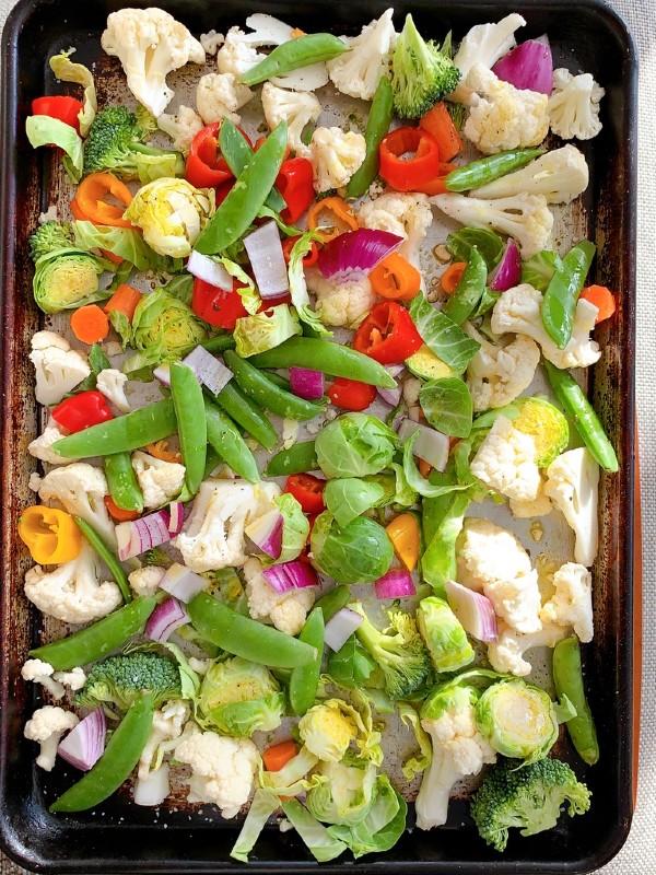 uncooked veggies