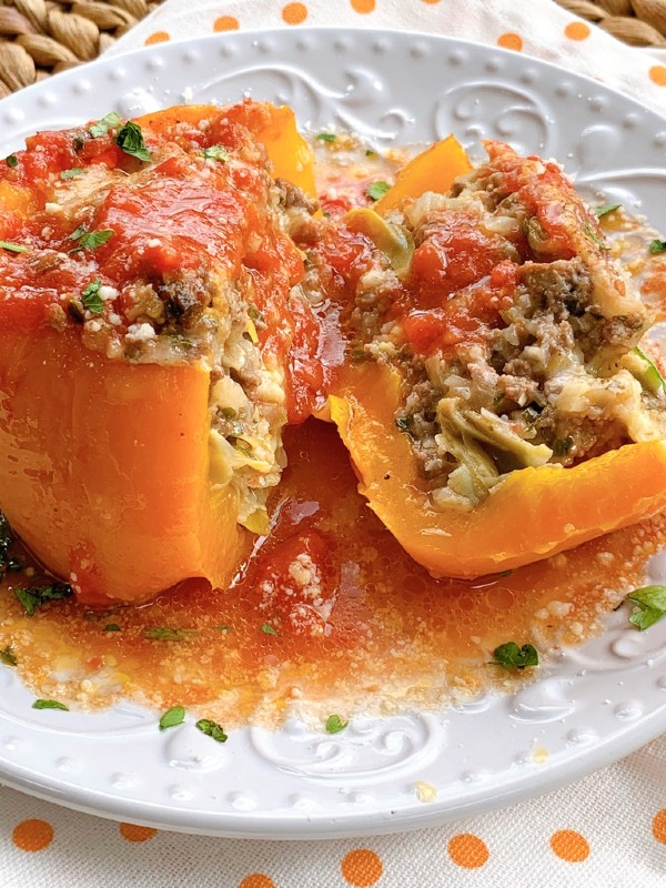 cut open pepper
