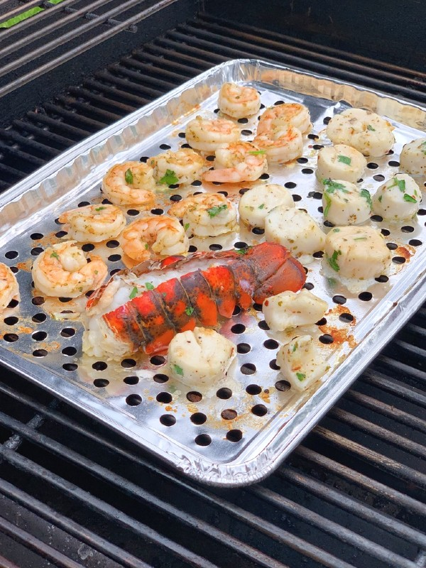 mixed grilled seafood